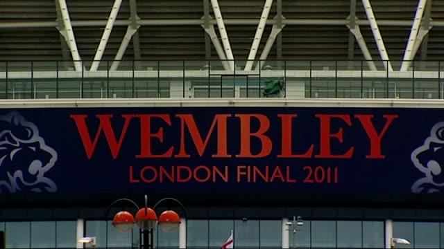 Manchester United v Barcelona Wembley Stadium GVs ENGLAND London Wembley Stadium EXT General views of Wembley Stadium with 'Wembley London Final...