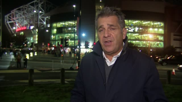 Jose Mourinho under pressure after draw with Valencia ENGLAND Greater Manchester Old Trafford Reporter to camera
