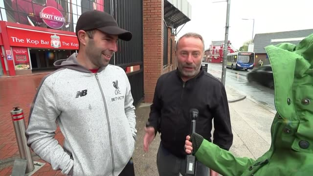 Liverpool beat Barcelona in epic comeback to reach final ENGLAND Liverpool Anfield Vox pops SOT Liverpool INT Hand moving pieces on chess board...