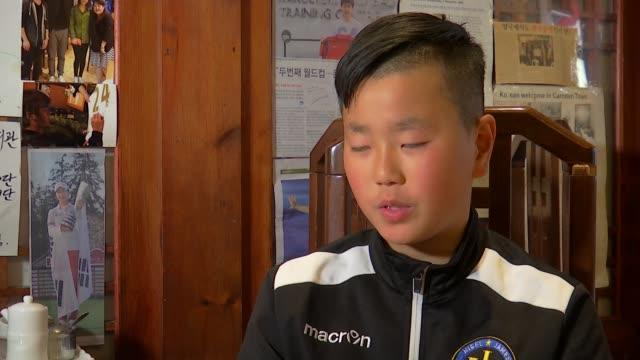 Preview of Tottenham Hotspur v Manchester City ENGLAND London New Malden INT Min Kyu Ji interview SOT On Spurs player Son Heungmin Samuel Park...