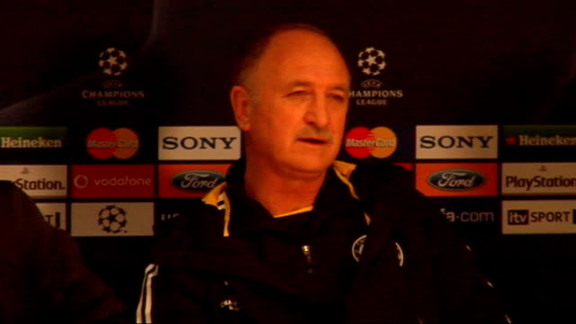 Scolari and Deco press conference More of Scolari press conference SOT About the pressure of being the Brazilian national team coach On his inability...