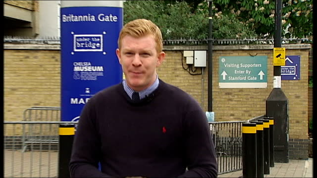 semi finals england london stamford bridge ext reporter to camera - semifinal round stock videos & royalty-free footage