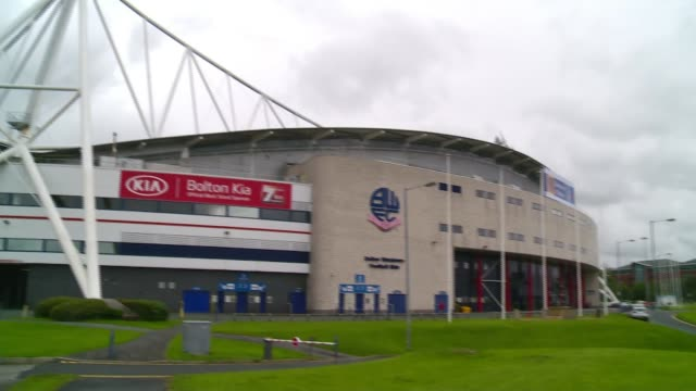 bolton wanderers players threaten to strike over unpaid wages england greater manchester bolton university of bolton stadium ext general view of... - bolton greater manchester stock videos and b-roll footage