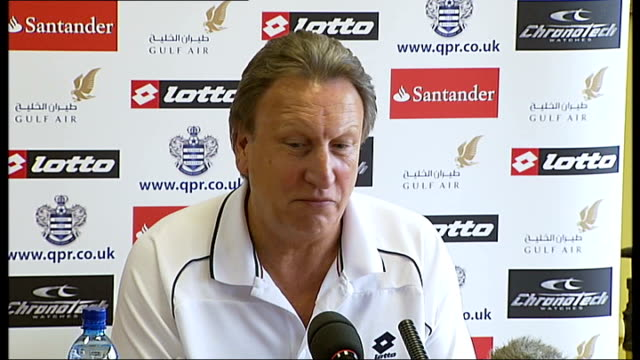 FA delays decision on Queens Park Rangers INT Neil Warnock press conference SOT All I'm concerned about is winning the Championship at the moment I'm...