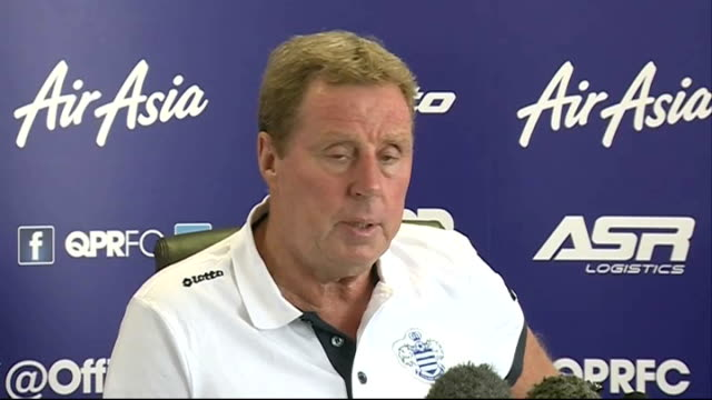 harry redknapp press conference england london int harry redknapp press conference sot including comments on qpr being favourites to win championship - ハリー レッドナップ点の映像素材/bロール
