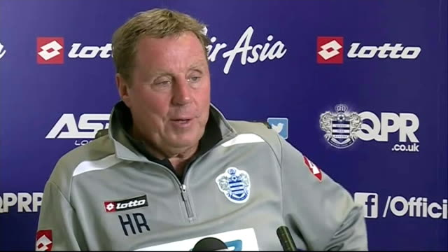 v birmingham: preview; england: london: int harry redknapp press conference sot - he would be a great loan that's for sure - ハリー レッドナップ点の映像素材/bロール