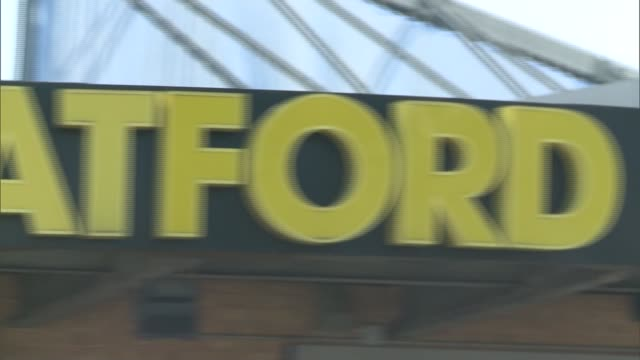 Watford close to promotion to Premier League ENGLAND Hertfordshire Watford Pink Floyd 'Money'** Close shot of 'Watford FC' name on exterior of...