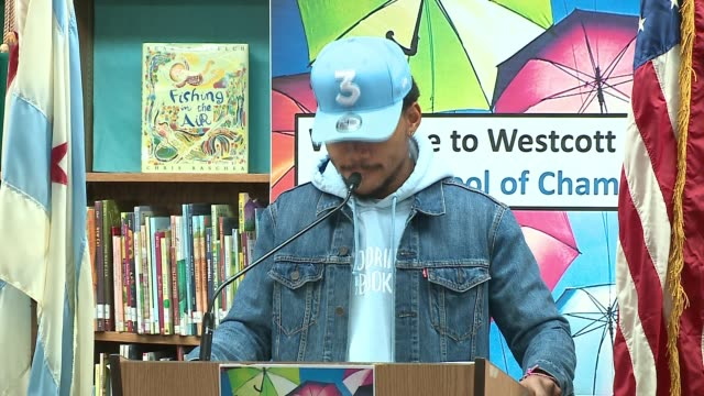 WGN Chance the Rapper announced at a press conference at Westcott Elementary School on March 6 2017 that he is donating $1 million to Chicago Public...