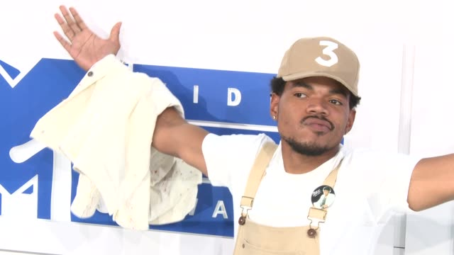 chance the rapper at 2016 mtv video music awards arrivals at madison square garden on august 28 2016 in new york city - chance stock videos & royalty-free footage