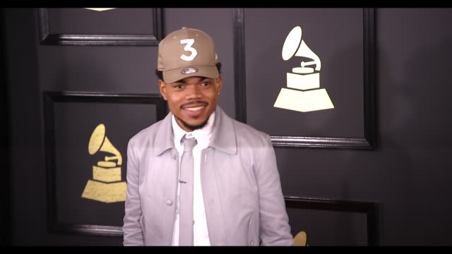 chance the rapper at 59th annual grammy awards - arrivals at staples center on february 12, 2017 in los angeles, california. 4k available - contact... - chance stock videos & royalty-free footage