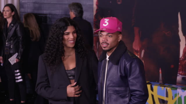 """chance the rapper at the world premiere of """"bad boys for life"""" on january 14, 2020 in hollywood, california. - chance the rapper stock videos & royalty-free footage"""