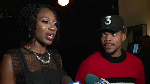 chance the rapper hosted a red carpet fundraiser for amara enyia's mayoral campaign at chicago chop house on november 14, 2018. - chance the rapper stock videos & royalty-free footage