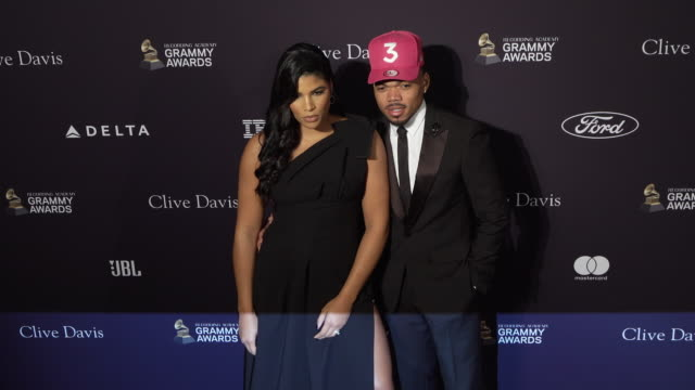 chance the rapper, kirsten corley at the recording academy and clive davis' 2020 pre-grammy gala at the beverly hilton hotel on january 25, 2020 in... - chance the rapper stock videos & royalty-free footage