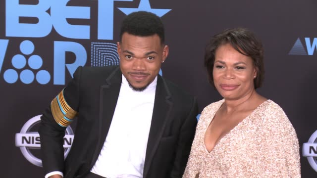 Chance the Rapper Lisa Bennett at 2017 BET Awards in Los Angeles CA