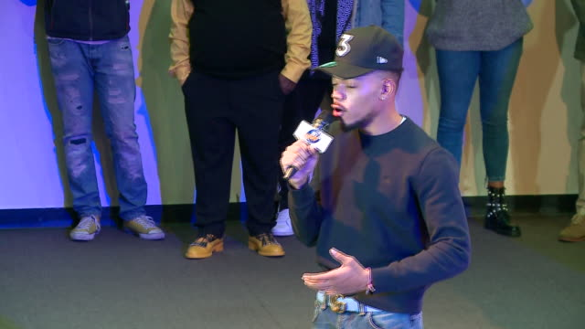 wgn chance the rapper surprised students at an assembly at michele clark high school in chicago's south austin neighborhood on nov 24 2017 he... - chance stock videos & royalty-free footage