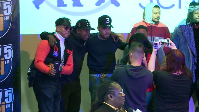 chance the rapper surprised students at an assembly at michele clark high school in chicago's south austin neighborhood on nov. 24, 2017. he announce... - chance the rapper stock videos & royalty-free footage