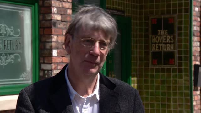 chance to stay the night on coronation street; england: manchester: ext john whitson interview sot - soap opera stock videos & royalty-free footage