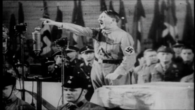 chancellor adolf hitler on the dangers of communism after reichstag fire - rede stock-videos und b-roll-filmmaterial