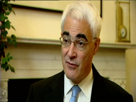 chancellor alistair darling comments on collapse of northern rock bank november 2007 - 2007 stock videos and b-roll footage
