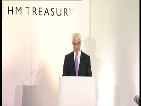 chancellor alistair darling comments on the decision to take the northern rock bank into public ownership following a bank run and financial crisis... - crisis stock videos & royalty-free footage
