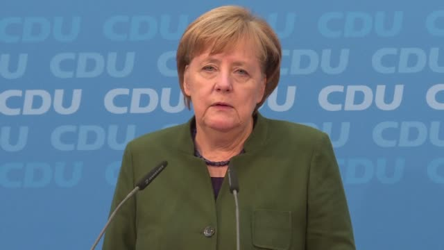 chancellor angela merkel opens talks sunday with germany's second biggest party on renewing their alliance in a new attempt at shaking europe's... - angela merkel stock videos & royalty-free footage
