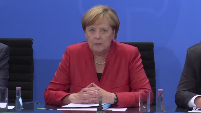 chancellor angela merkel pledges a billion euros to help german cities fight air pollution caused by dirty diesel cars as a scandal strangling the... - angela merkel stock videos & royalty-free footage