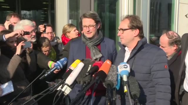 Chancellor Angela Merkel's conservatives and the Social Democrats seal a deal on a new coalition says Alexander Dobrindt the head of the CSU...