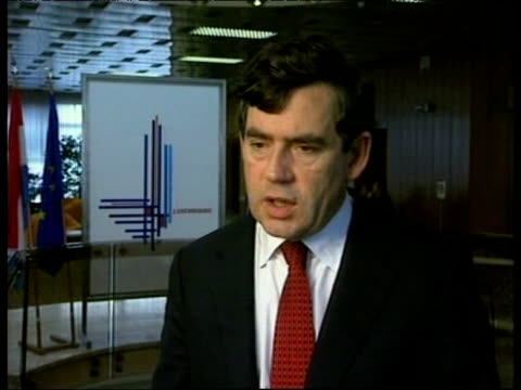 chancellor gordon brown comments on possibility of britain joining euro 13 october 1997 - financial accessory stock videos & royalty-free footage