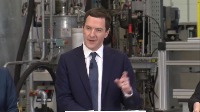 chancellor of the exchequer george osborne saying that britain would be poorer if it left the european union - george osborne stock videos & royalty-free footage