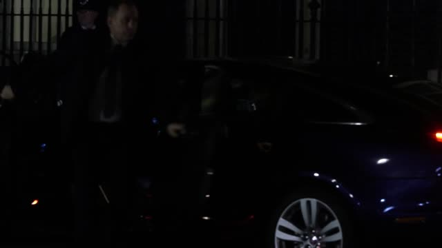 chancellor philip hammond arrives at downing street after theresa may's crushing brexit vote defeat in the house of commons - defeat stock videos & royalty-free footage
