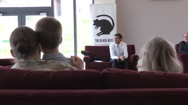 chancellor rishi sunak and defence secretary ben wallace visit catterick garrison as a the government announced £200m funding to improve... - ben wallace stock videos & royalty-free footage