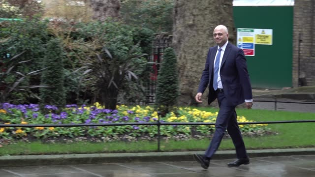 chancellor sajid javid enters downing street prior to his resignation during the postbrexit cabinet reshuffle - sajid javid stock videos & royalty-free footage