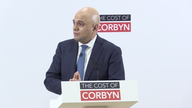 stockvideo's en b-roll-footage met chancellor sajid javid refuses to condemn boris johnson's 'letterbox' remarks despite saying the party are tough on islamaphobia - breedbeeldformaat