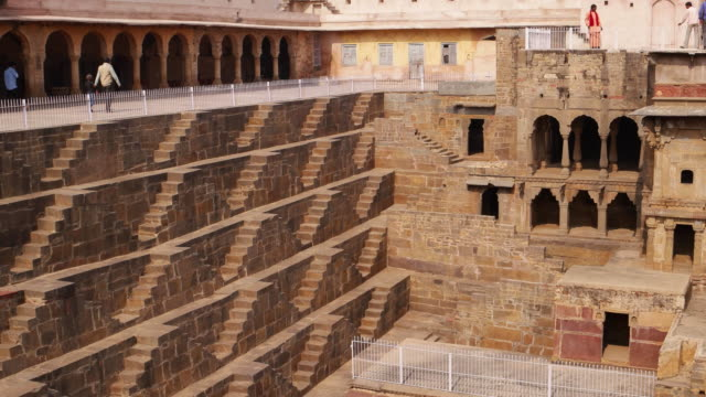 Chand Baoli, a ancient stepwell in Rajasthan, India