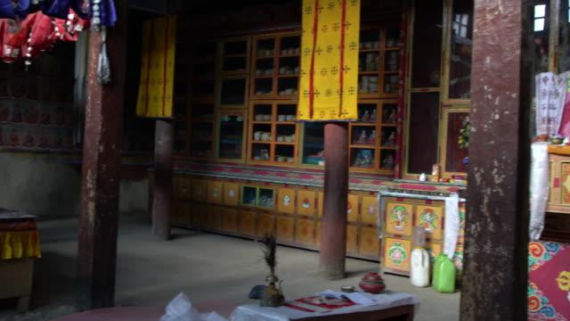 chandazik gompa, a buddhist temple in leh, ladakh - monastero video stock e b–roll