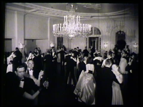 chandelier in ballroom vs guests couples dancing together in ballroom saturday night event - ballroom stock videos & royalty-free footage