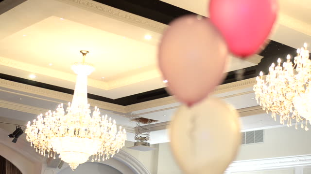 Chandelier with balloons