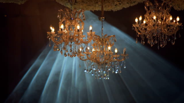 chandeliers and lights abstract background - 19th century style stock videos & royalty-free footage