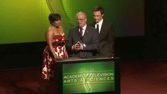 chandra wilson, john shaffner, and jim parsons announce the nominees for the 61st primetime emmy awards at the 61st primetime emmy_ awards... - emmy awards nominations stock videos & royalty-free footage