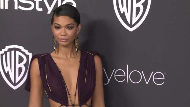 chanel iman at 18th annual instyle and warner bros pictures golden globes afterparty at the beverly hilton hotel on january 08 2017 in beverly hills... - ゴールデングローブ賞点の映像素材/bロール