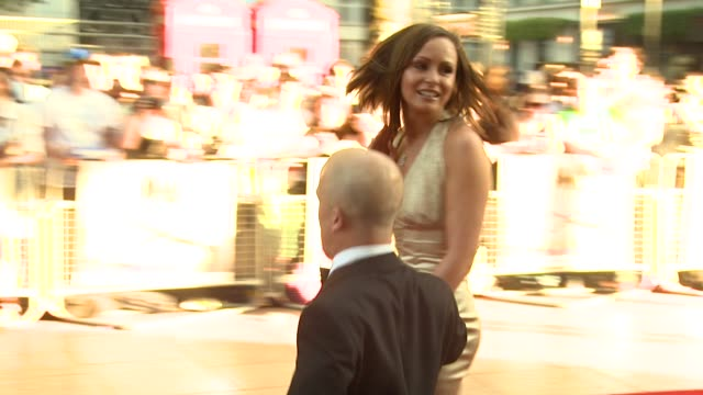 chanelle hayes and guest at the x-files: i want to believe uk premiere at london . - xファイル点の映像素材/bロール