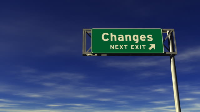 changes freeway exit sign - exit sign stock videos & royalty-free footage