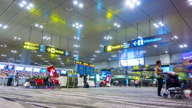 t/l, zi - changi airport - information sign stock videos and b-roll footage