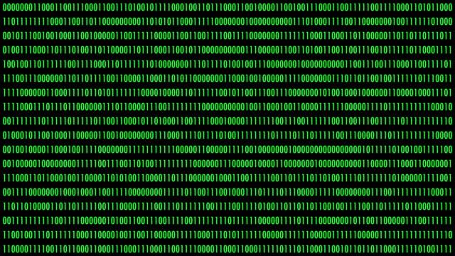 vidéos et rushes de modification des données binaires - chiffre 1