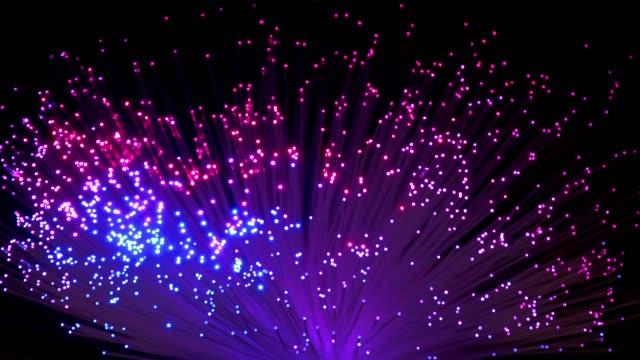 farbwechsel in glasfaser - elektrische lampe stock-videos und b-roll-filmmaterial