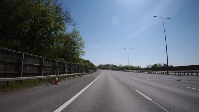 changing lanes on the m40 motorway during lockdown shot from a car point of view, england, united kingdom - point of view stock videos & royalty-free footage