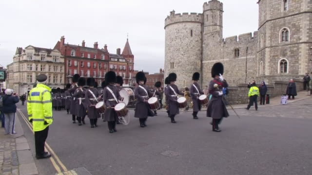 changing of the guard at windsor castle during the coronavirus outbreak - tradition stock videos & royalty-free footage