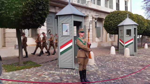 Changing of the Guards at Sándor Palace in Budapest