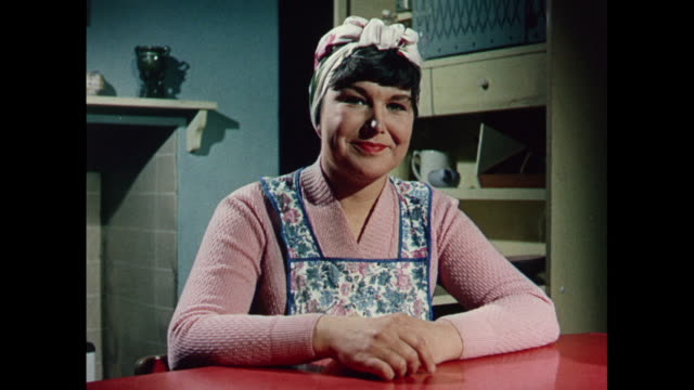1969 uk - changing to smokeless coal - stereotypical housewife stock videos and b-roll footage