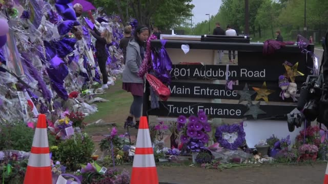 Chanhassen MN Detectives are revisiting the scene at Paisley Park as a component of a complete investigation Wide shot taken at 818 pm Cars leaving...